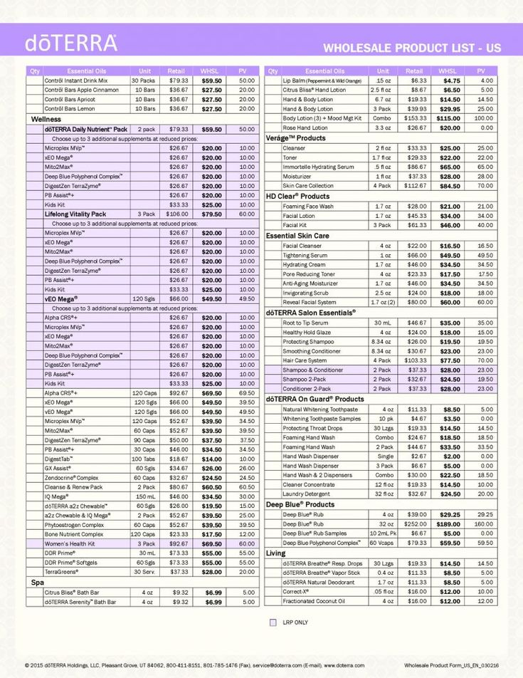 This is a great opportunity to view some of the best essential oils in the world in this Doterra price list Here is theDoterra price list and productrange of Therapeutic Grade essential oils, ess…