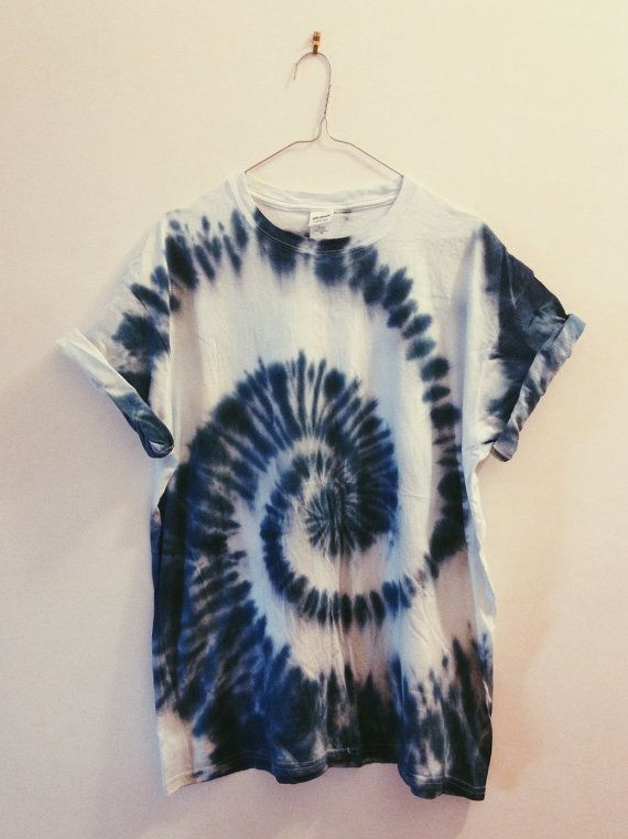 Blue Spiral Tie-dye T-shirts