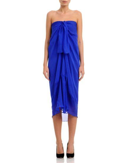 Strapless Chiffon Dress Midi #Strapless #Chiffon #Dress #MididDress
