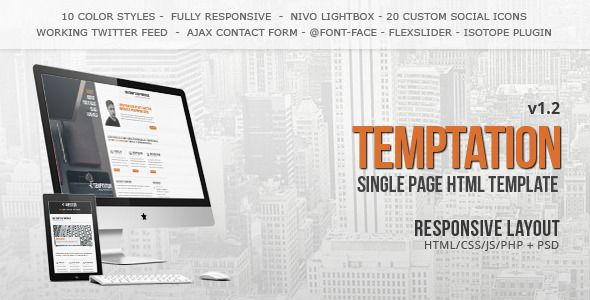 Temptation - a Single Page Portfolio Creative Template. Live Preview & Download: http://themeforest.net/item/temptation-a-single-page-template/234462?s_rank=711&ref=yinkira