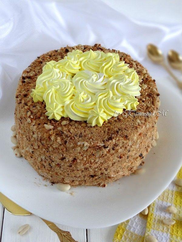 Бисквитно-кремовый торт с арахисом и манго. Рецепты праздничных тортов в домашних условиях в кулинарном блоге Татьяны М.