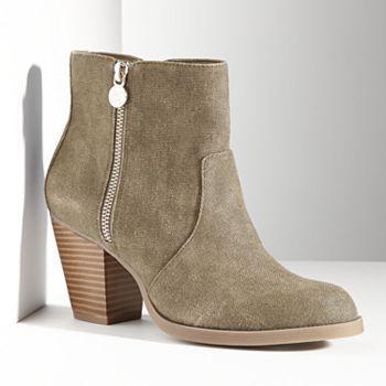 Simply Vera Vera Wang Canvas Ankle Boots - Women #Kohls
