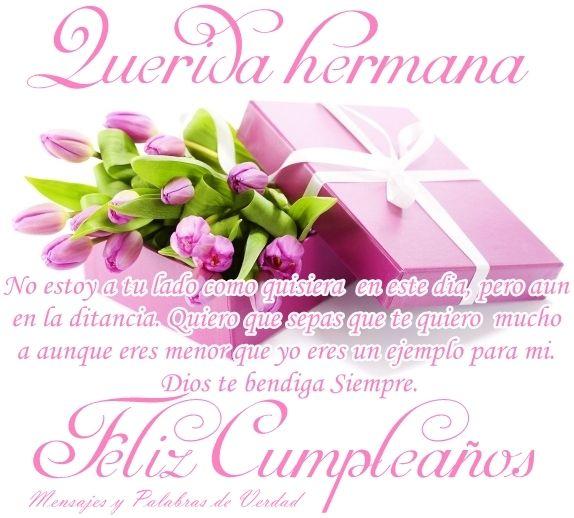 Feliz Cumpleanos Hermana Querida MENSAJES DE CUMPLEANOS PARA UN HERMANO TODO PARA FACEBOOK
