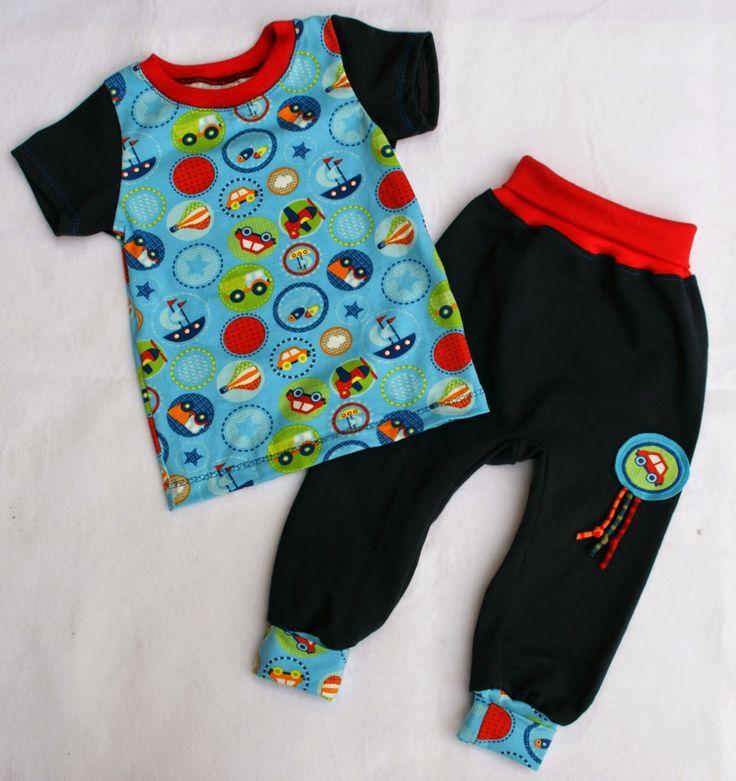 Nadelzauber: Babyset mit Hose nach einem Gratis-Schnittmuster