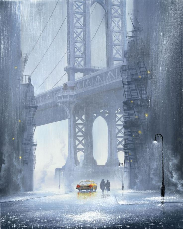 Jeff Rowland - Is it Raining in New York City Unframed