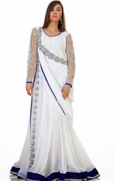 Picture of Flamboyant White Designer Kaftan Dress