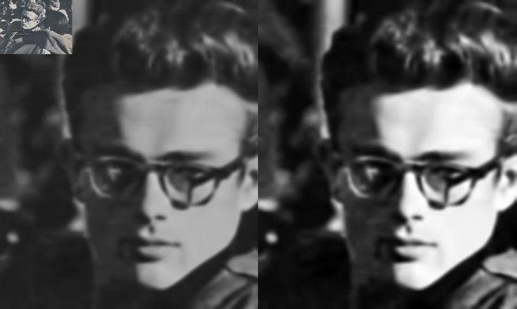 J.Dean, en el set de Liberace movie (con Leonard Rosenman)
