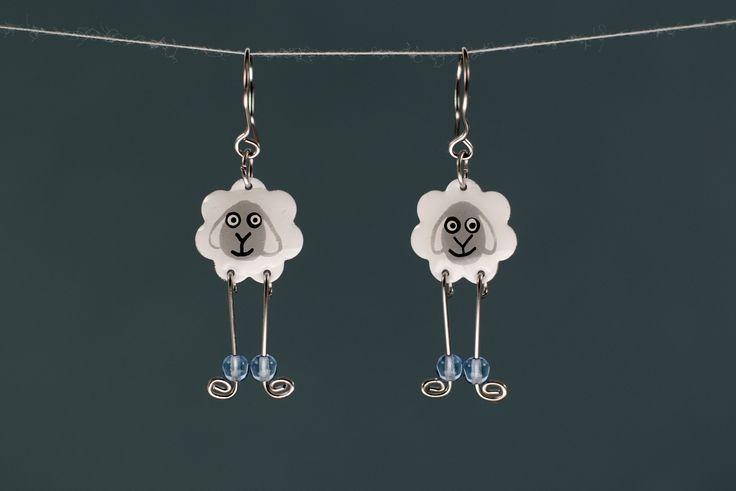 Funny sheep earrings by #CinkyLinky
