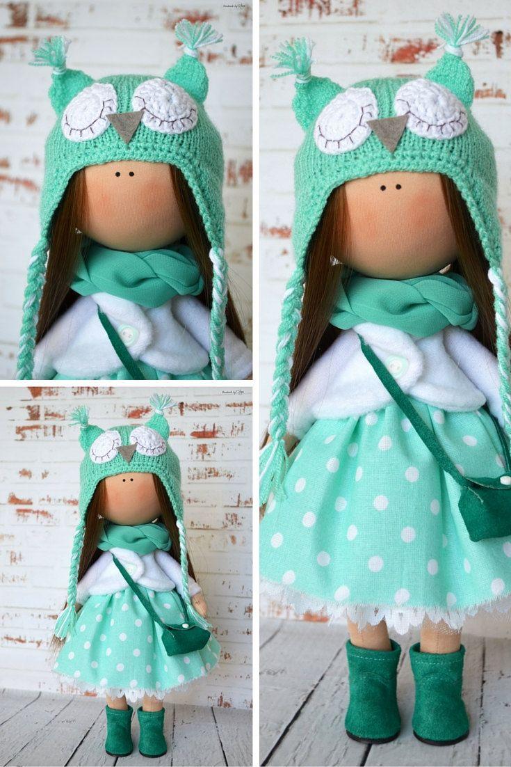 Owl doll Interior doll Home doll Art doll by AnnKirillartPlace