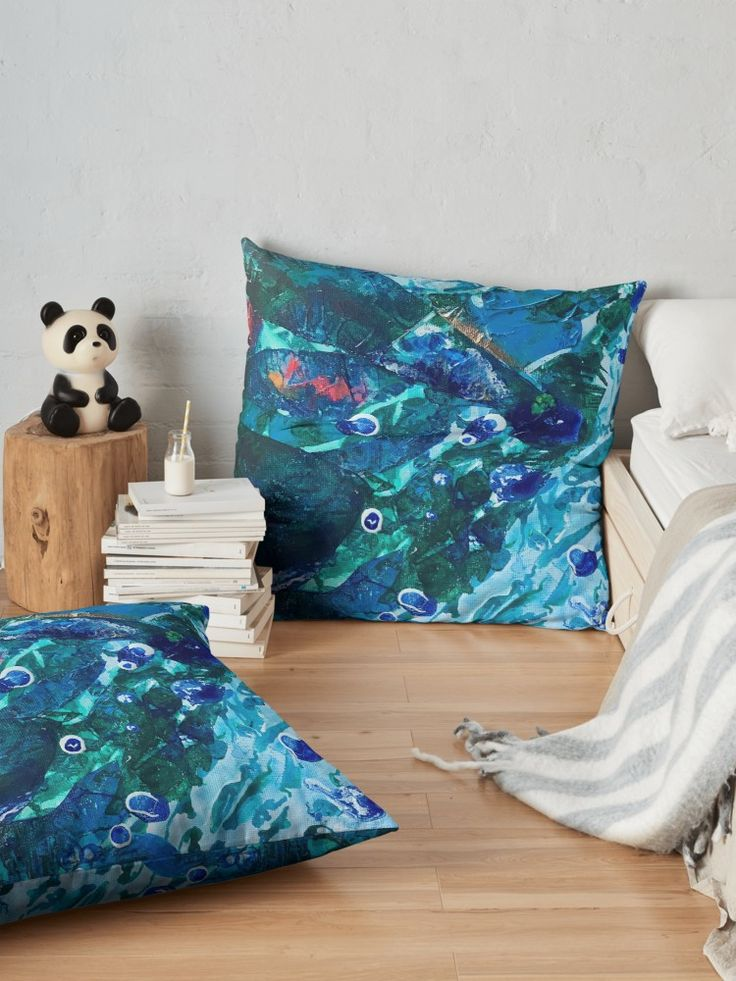 Art by @anoellejay and @redbubble Home decor pillows and cushions fashion and design by NYC artist