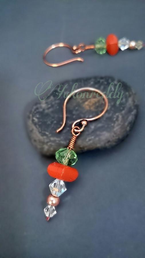 Red jasper earrings by Becca Ross