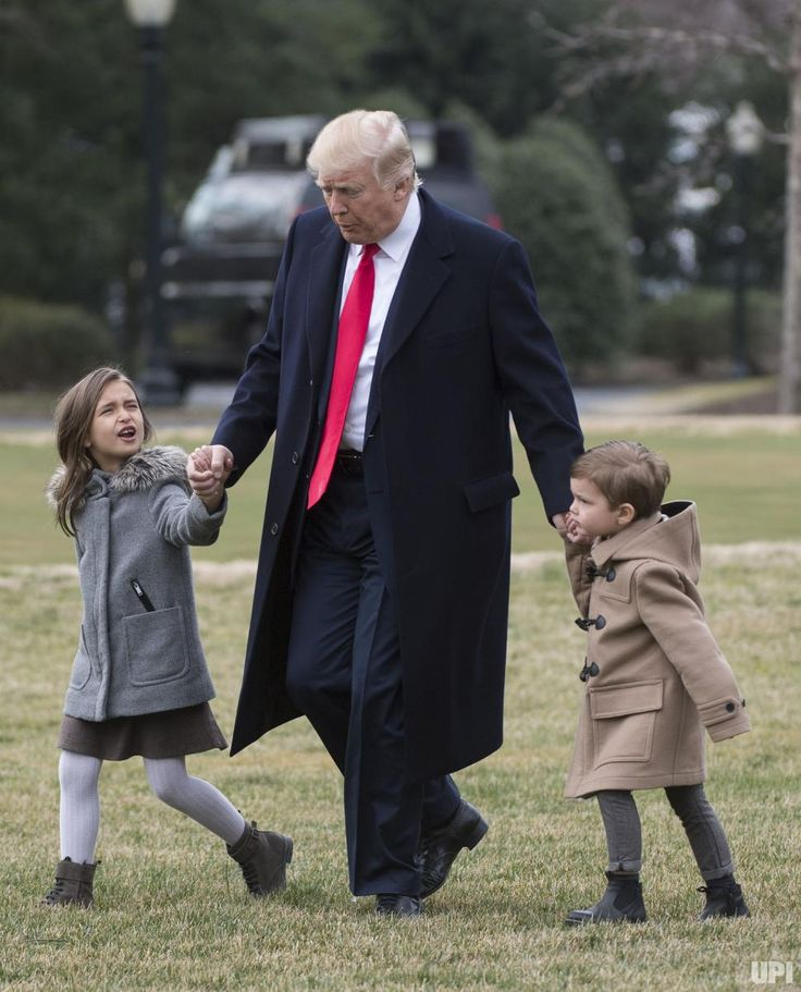 2017 pictures of the year - December 28, 2017:  President Donald Trump walks with his grandchildren Arabella and Joseph as he departs the White House for South Carolina and Florida on Feb. 17. Arabella and Joseph are the two oldest children of Ivanka Trump and Jared Kushner. File Photo by Kevin Dietsch/UPI