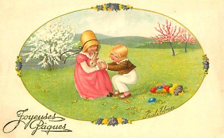 Pauli Ebner (1873-1949) — Old Easter Post Cards  (820x509)