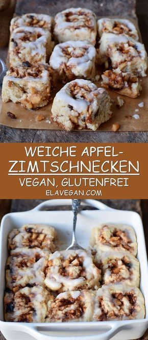 Vegan and gluten-free apple cinnamon buns that are tr …
