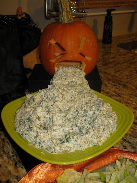 This pumpkin puking pumpkin. | 19 Gross Dessert Ideas To Make A Sick Halloween