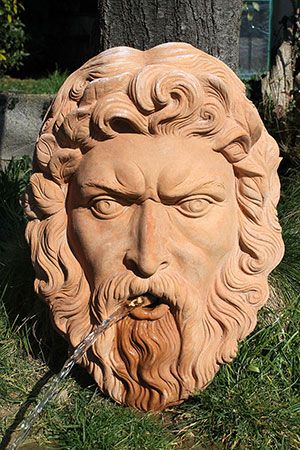 """Giove"" #jupiter_mask #jupiter_fountain #mascherone_giove #fontana_giove #mascherone_fontana_terracotta_impruneta"