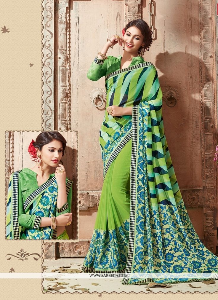 This brilliant array will make you the ultimate classic beauty at the next event you attend. Look stunningly beautiful in this multi colour georgette casual saree. This lovely attire is looking extra ...