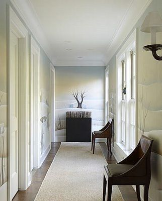 Focal point at end of long dead end hallway also chars for End of hallway ideas