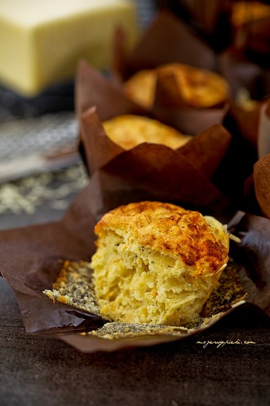 Muffins with cheese, carrot, and spices
