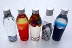 Entdeckerflaschen, Kreative Pause, Babysachen DIY, Basteln, Babyspielzeug…