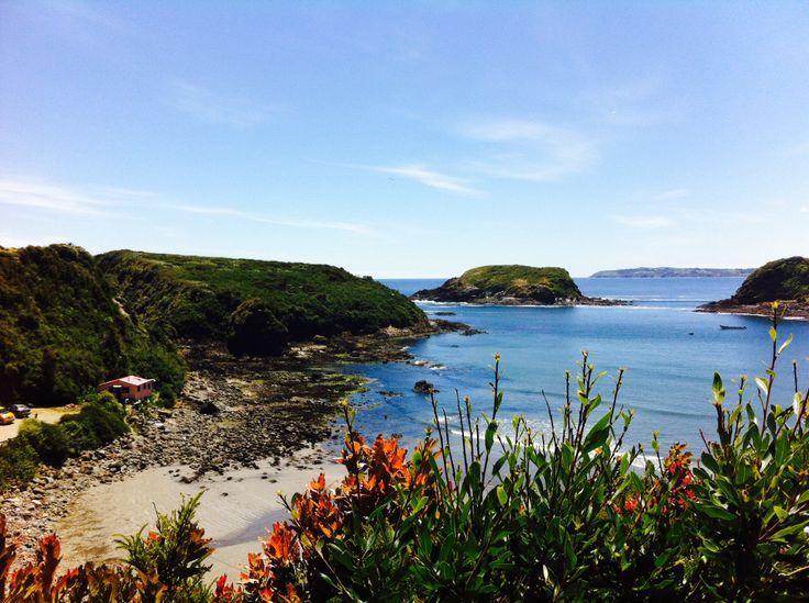 Monumento Natural Islotes de Puñihuil, Isla de Chiloé, Chile.