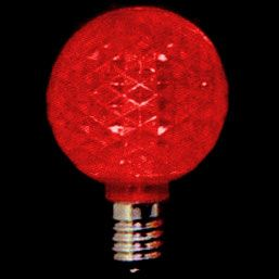 led globe lights in red