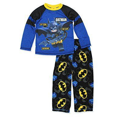 3bf8df9a81 LEGO Batman Boys Poly Top With Fleece Pants Pajamas Set