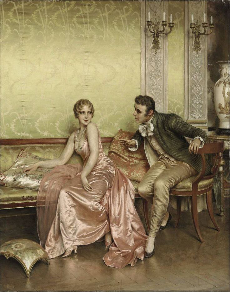 The Athenaeum - The Conversation (Charles Joseph Frederick Soulacroix - )