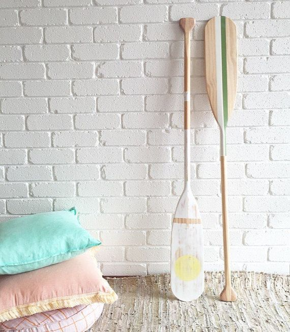 Monaco timber painted oar by Coastaltrader on Etsy