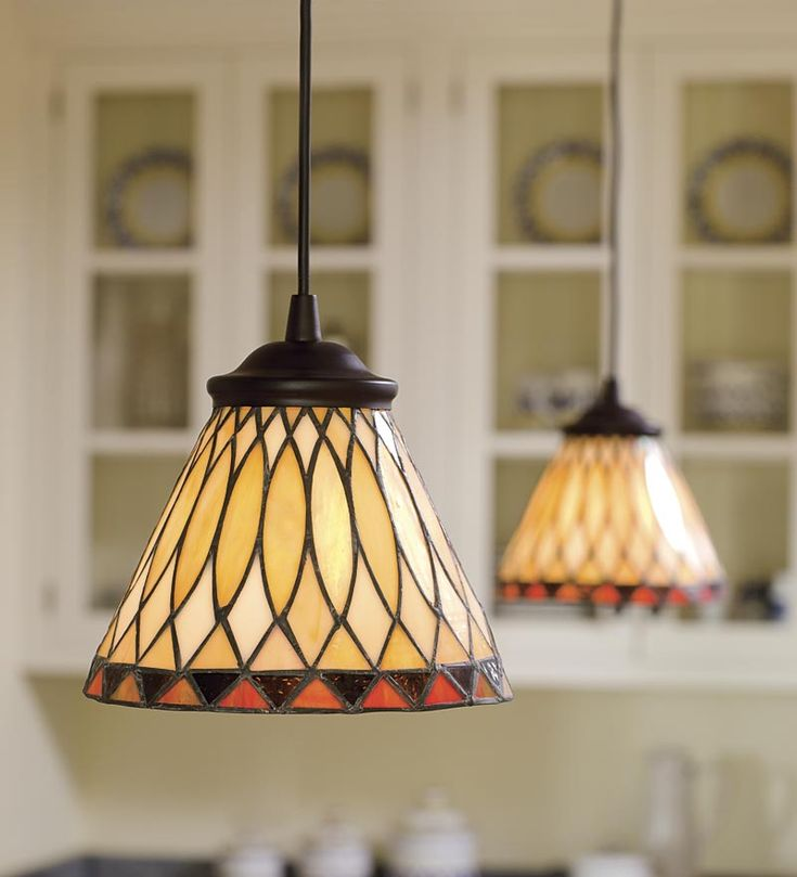 Replace any recessed light with this screw-in Stained Glass Pendant Light - easy and affordable!