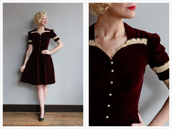 1940s Dress // Lost Hearts Dress // vintage 40s by dethrosevintage