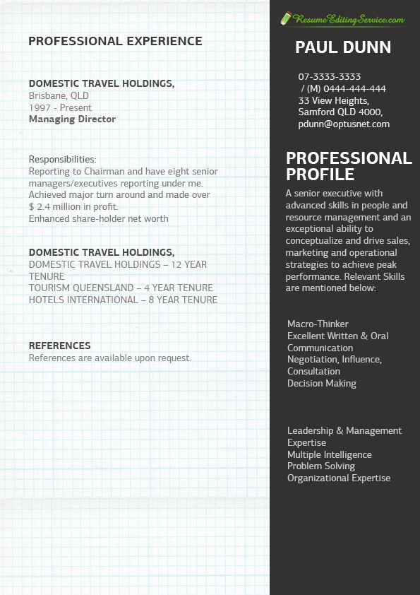 11 best Resume Editing Service images images on Pinterest Resume - managing director resume sample
