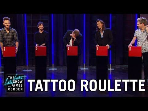 Tattoo Roulette w/ One Direction.  Niall and James are sooooo adorable and I love them so much!