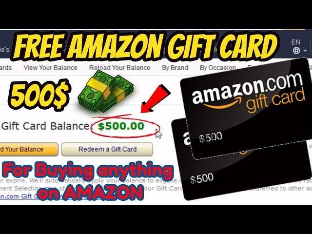 Free Amazon Gift Card Codes New 2018 Real Working 100 Proof