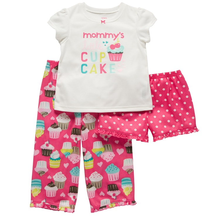 3-Piece Jersey Pj's | Baby Girl Pajamas ~ must go to the Carter's store soon!