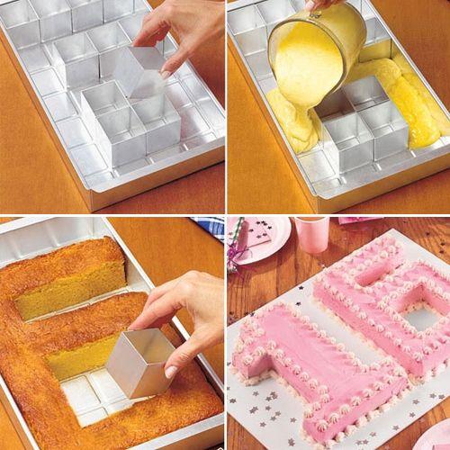 Stampo modulare per torte - numeri e lettere ti permette di sfornare torte con forma di numeri o lettere grazie alla sua configurazione modulare.