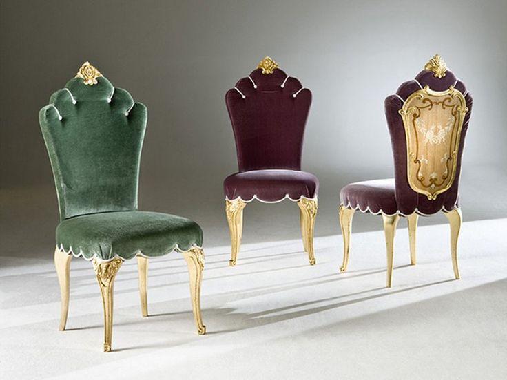 Sedia imbottita in tessuto FARNESE Collezione Palazzo by Rozzoni Mobili d'Arte