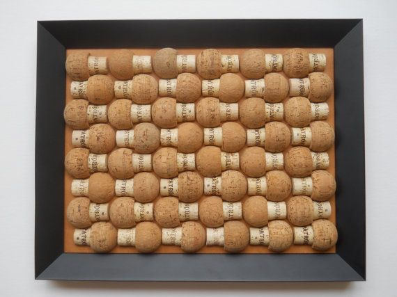 Patron cork board made with 48 patron cork halves and for Wine cork welcome mat