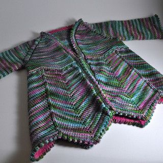 """I love this yarn, but wasn't certain it would go well with the Helena lace. After project-surfing, I ran across the """"Jaywalker"""" mod and thought it would be great with this variega..."""