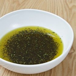 Pan-fried rosemary infused oil