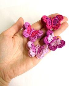Häkel Schmetterling in Lila un Rosa