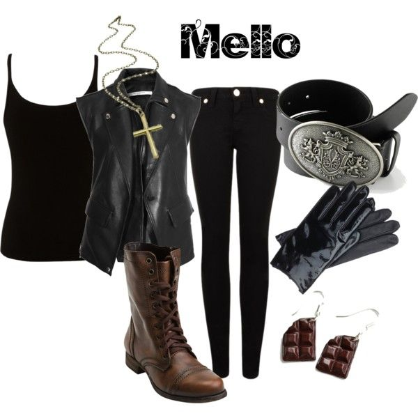 """Mello from Death Note"" by animeinspirations on Polyvore"