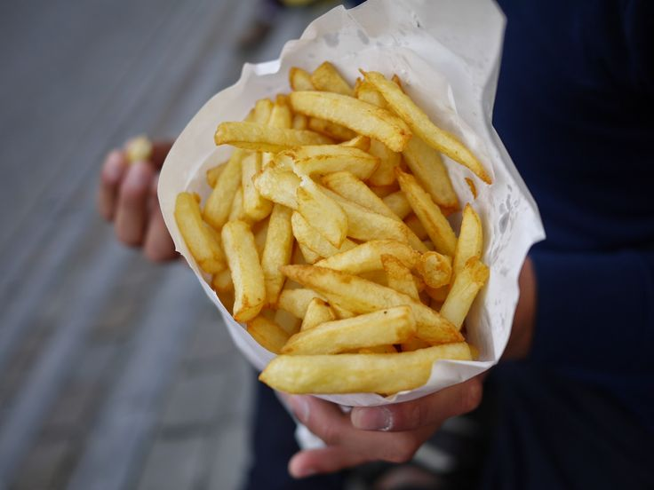 The origin of French fries is debatable, but Belgians claim them as their own. Fries come with almost every meal, or you can easily make them a meal on their own. Every French fry shop has a large selection of dipping sauces so that each diner can customize the fries to their taste.