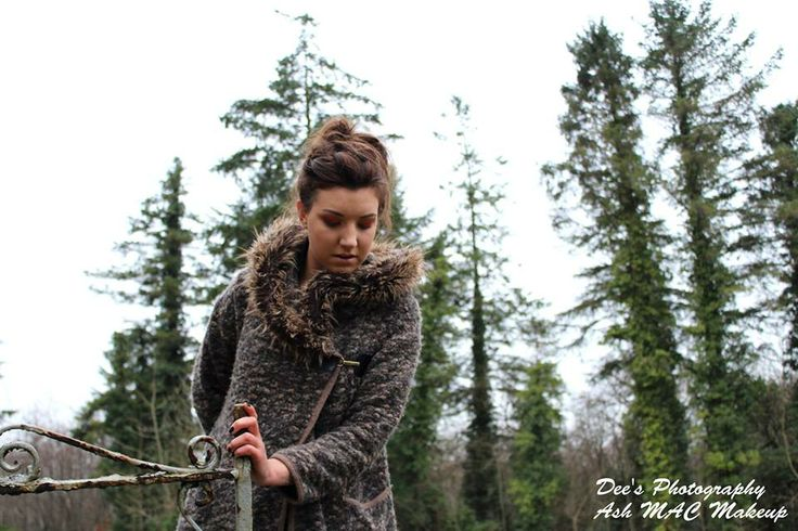 Beautiful photo & trees #sligo #sligowhoknew #photography #model #makeup #MAC #fur #tree #gate #photo #ireland #deesphotography