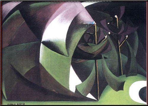 giacomo balla paintings | Alberi Mutilati - Giacomo Balla - WikiPaintings.org