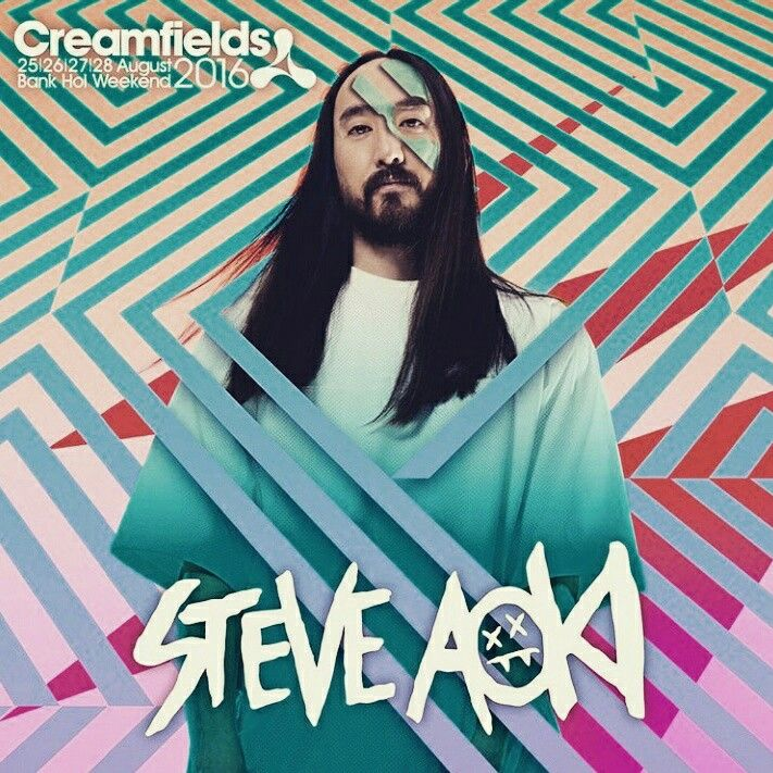 Electro house musician Steve Aoki to play @creamfields festival 2016