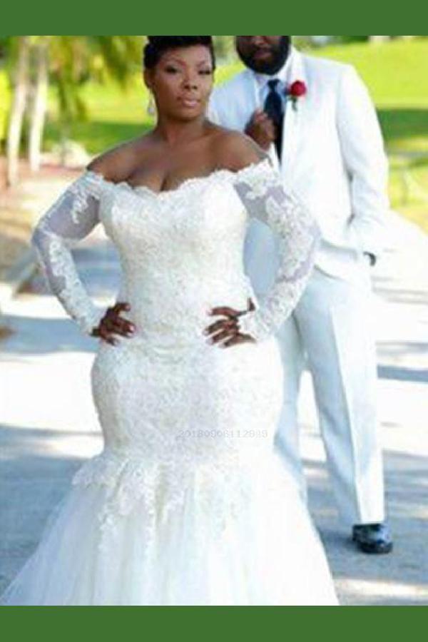 Hot Sale Fancy Long Sleeves Wedding Dresses, Wedding Dresses Plus Size, Wedding Dresses Mermaid, Wedding Dresses Sexy