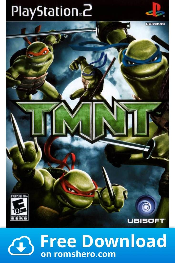 Download Tmnt Playstation 2 Ps2 Isos Rom In 2020 Playstation
