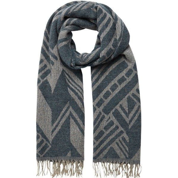 John Lewis Aztec Oversized Scarf , Indigo (750 SEK) ❤ liked on Polyvore featuring accessories, scarves, indigo, oversized scarves and aztec scarves