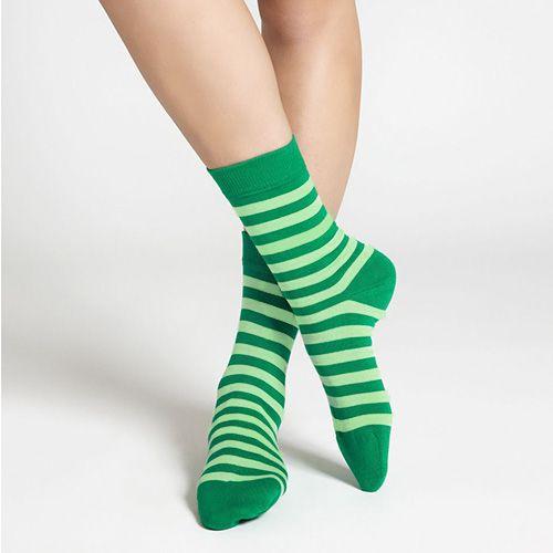 Wearers of plain white socks will be green with envy over the stylish stripes and striking hues of these sassy socks. Marimekko Striped Kelly Green/Light Green Socks - $16